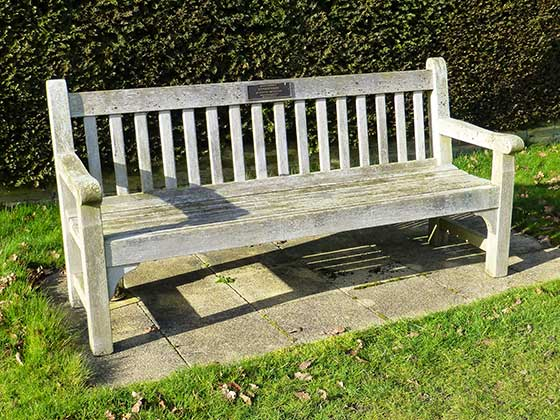 Memorial Bench with bronze plaque