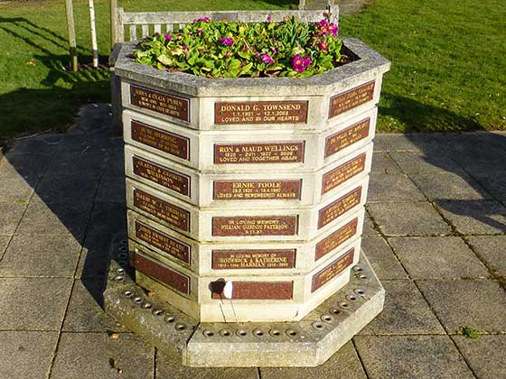 The Octagonal Memorial Planter at Aldershot Crematorium